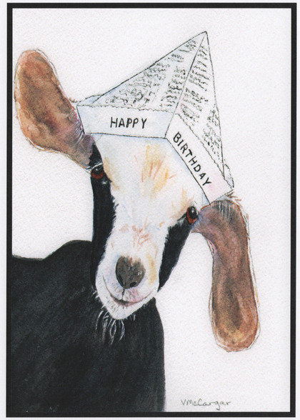 Goat card handmade goat cards goat birthday card bookmarktalkfo Image collections