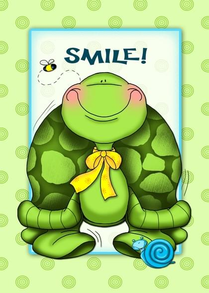 Send a Turtle Have A Great Day Card with your own Handwriting. Signed, sealed, delivered at no extra cost! Quality cards made in the USA. Designed by Annie Things Possible.