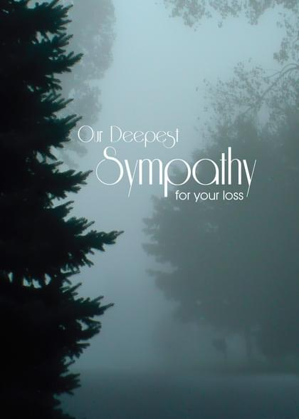 Send a Trees Sympathy (People) Card with your own Handwriting. Signed, sealed, delivered at no extra cost! Quality cards made in the USA. Designed by Annie Things Possible.