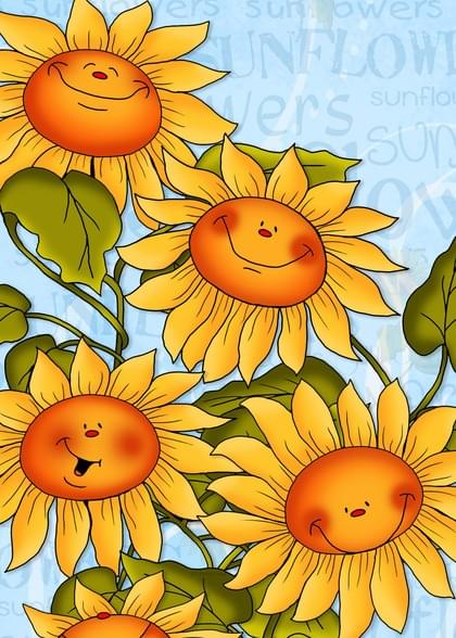 Send a Sunflowers Have A Great Day Card with your own Handwriting. Signed, sealed, delivered at no extra cost! Quality cards made in the USA. Designed by Annie Things Possible.