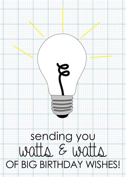 Send A Lightbulb Birthday Card With Your Own Handwriting Signed Sealed Delivered At