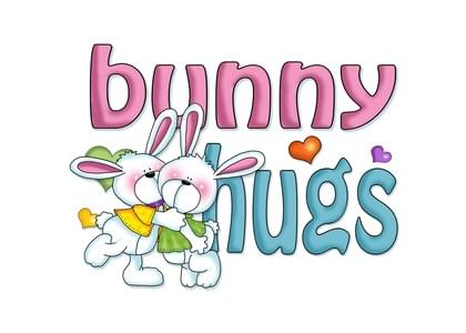 """Send this """"Bunnies and Hugs"""" Love card w/ your own handwriting by mail directly from Signed. No need to leave your house. Do it all online for $7.99!"""