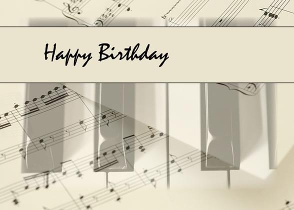 Send A Music And Notes Birthday Card With Your Own Handwriting Signed Sealed