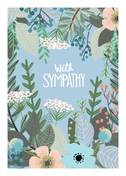 Send a Flowers Sympathy Card with your own Handwriting. Signed, sealed, delivered at no extra cost! Quality cards made in the USA. Designed by Apartment 2 Cards.