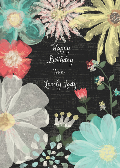 Birthday Card featuring Flowers