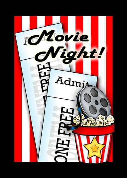 Send a Movie Theater You're Invited/Join Us/Join Me Card with your own Handwriting. Signed, sealed, delivered at no extra cost! Quality cards made in the USA. Designed by Annie Things Possible.