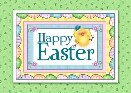 Send an Easter Chicks Easter Card with your own Handwriting. Signed, sealed, delivered at no extra cost! Quality cards made in the USA. Designed by Annie Things Possible.