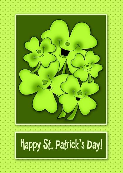 Send a Saint Patrick's Day Card with your own Handwriting. Signed, sealed, delivered at no extra cost! Quality cards made in the USA. Designed by Annie Things Possible.