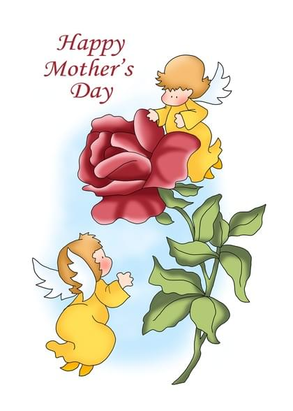 Send an Angels Mother's Day Card with your own Handwriting. Signed, sealed, delivered at no extra cost! Quality cards made in the USA. Designed by Annie Things Possible.