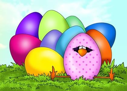 Send an Easter Eggs Easter Card with your own Handwriting. Signed, sealed, delivered at no extra cost! Quality cards made in the USA. Designed by Annie Things Possible.