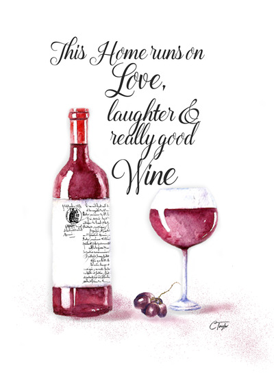 Alcohol And Wine Greeting Card With Your Own Handwriting