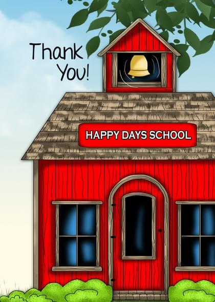 Send a School Thank You Card with your own Handwriting. Signed, sealed, delivered at no extra cost! Quality cards made in the USA. Designed by Annie Things Possible.