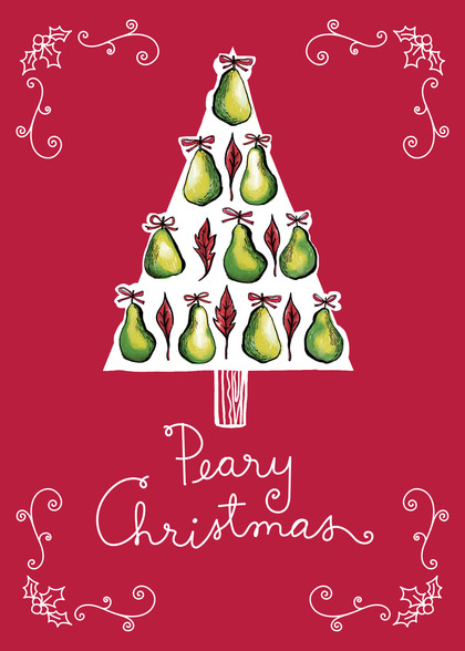 Send a Pears Christmas Card with your own Handwriting. Signed, sealed, delivered at no extra cost! Quality cards made in the USA. Designed by Adriprints Press.