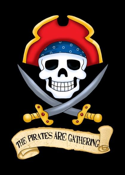 Send a Pirate You're Invited/Join Us/Join Me Card with your own Handwriting. Signed, sealed, delivered at no extra cost! Quality cards made in the USA. Designed by Annie Things Possible.