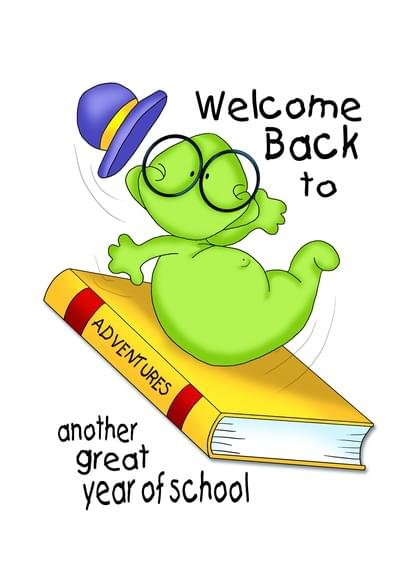 Send a Books Back To School Card with your own Handwriting. Signed, sealed, delivered at no extra cost! Quality cards made in the USA. Designed by Annie Things Possible.