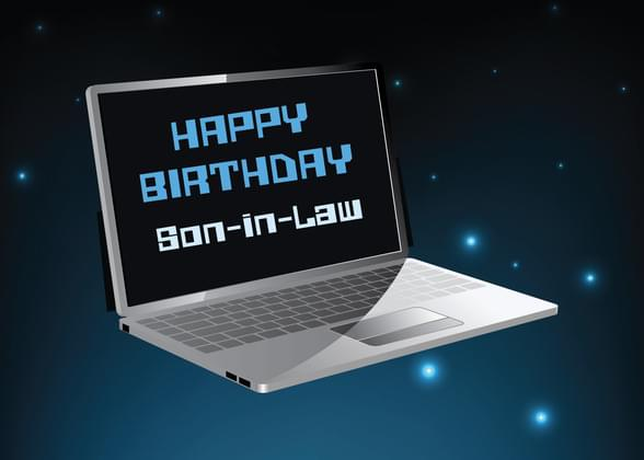 Send A Stars And Laptop Birthday Card With Your Own Handwriting Signed Sealed