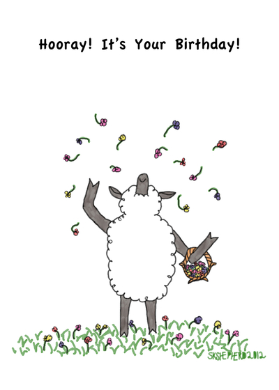 Send A Sheep Birthday Card With Your Own Handwriting Signed Sealed Delivered At