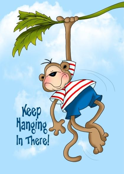 Send a Monkeys Encouragement Card with your own Handwriting. Signed, sealed, delivered at no extra cost! Quality cards made in the USA. Designed by Annie Things Possible.