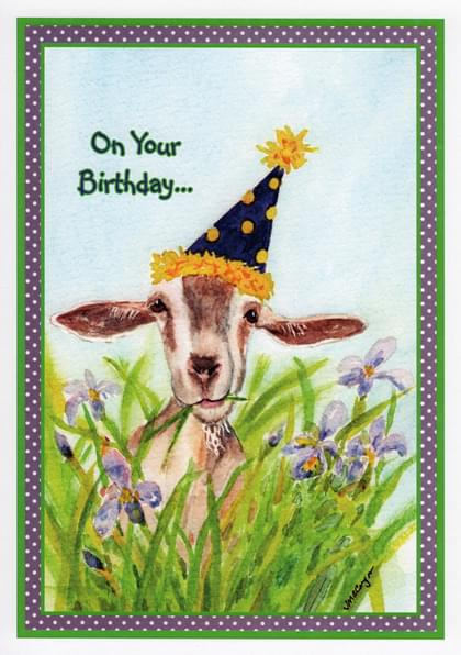 Send A Goats Birthday Card With Your Own Handwriting Signed Sealed Delivered At